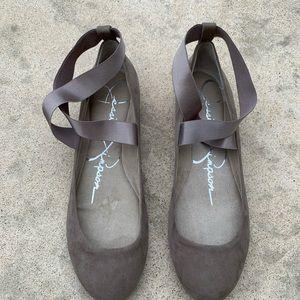 Jessica Simpson Mandayss Cafe Ballet Flats Size 11